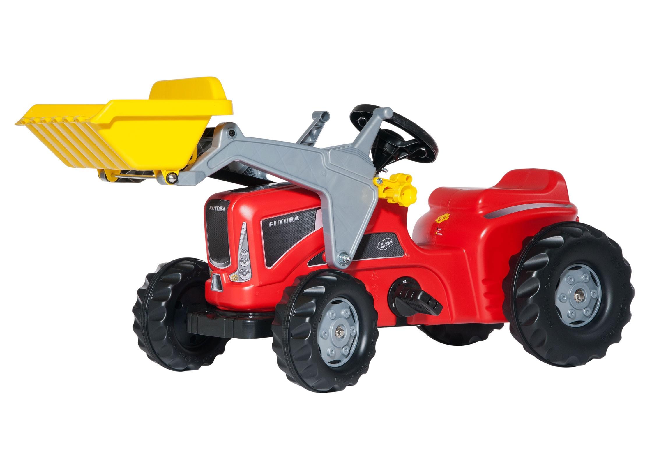Trettraktor rolly Kiddy Futura mit Frontlader rot - Rolly Toys Bild 1