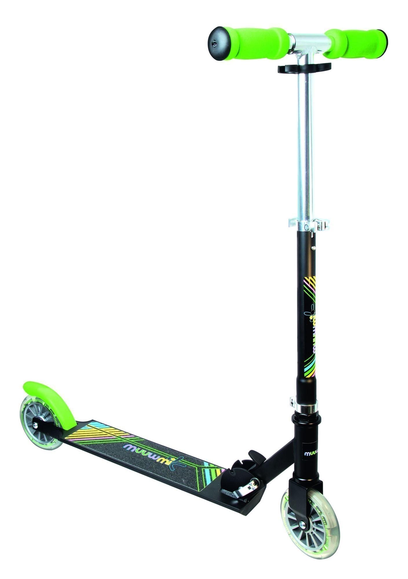 Tretroller, Alu-Scooter, Cityroller Muuwmi 125 Neon grün schwarz Bild 1