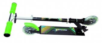 Tretroller, Alu-Scooter, Cityroller Muuwmi 125 Neon grün schwarz Bild 3